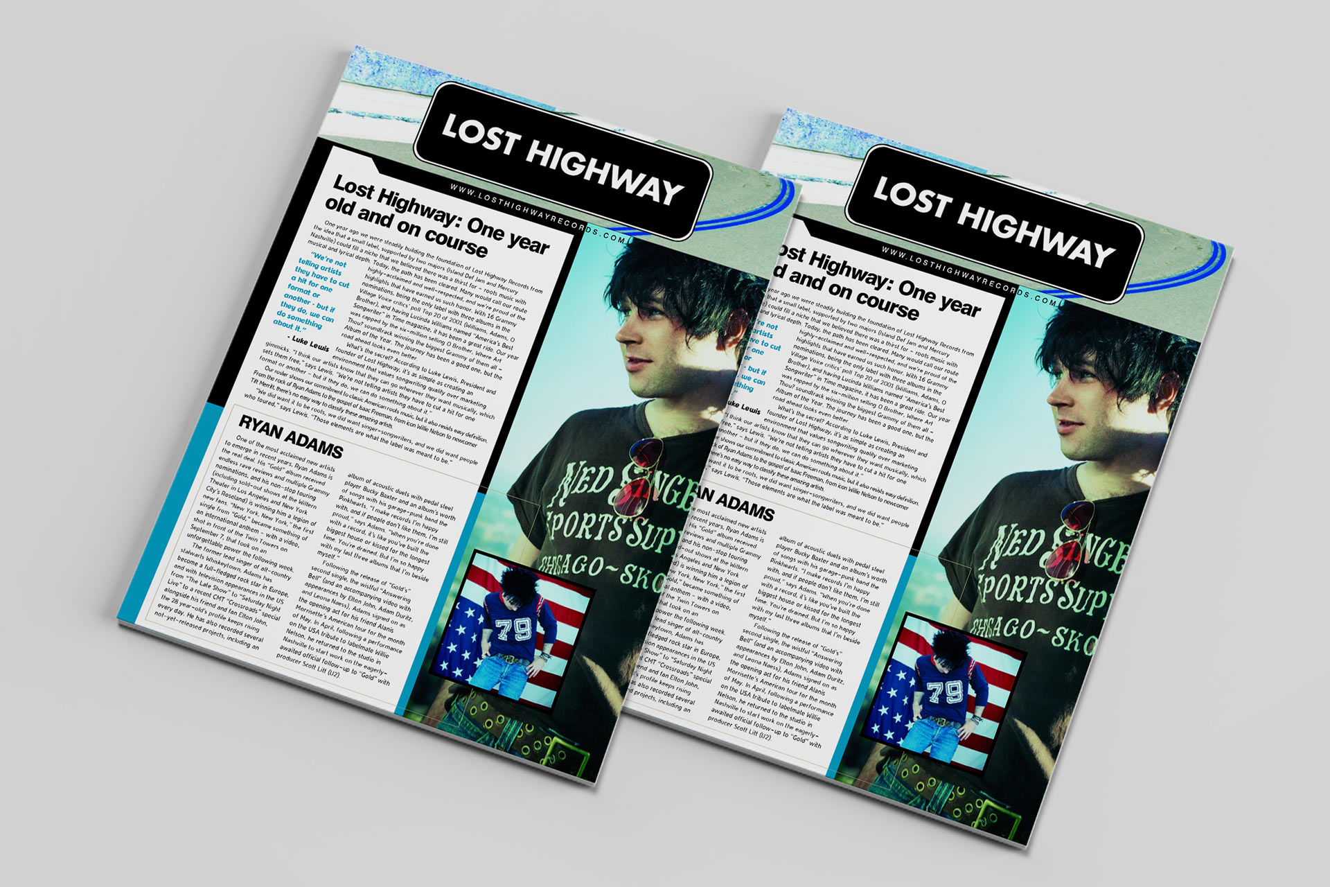 Lost Highway cover, Ryan Adams