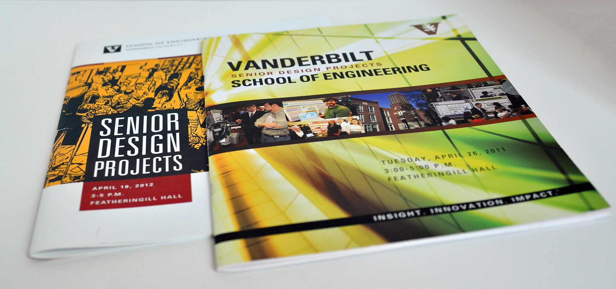 VU Engineering Senior Design Catalogs, graphic design