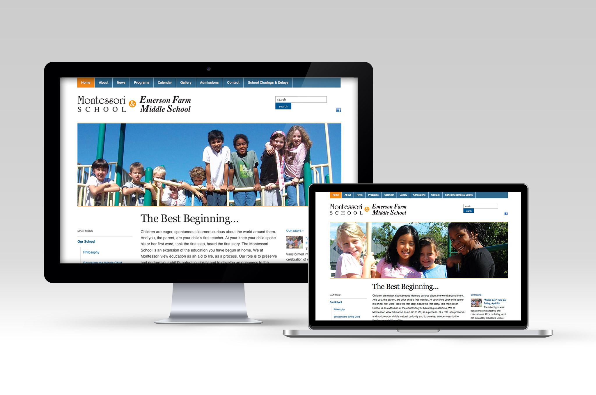 Montessori School Web site